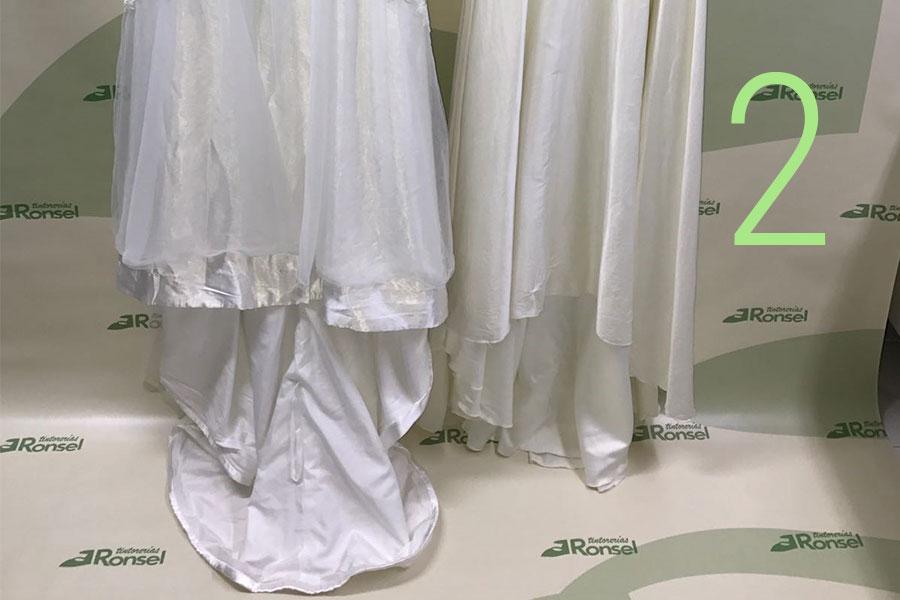 Limpieza de vestidos de novia. Tintorerías Ronsel.
